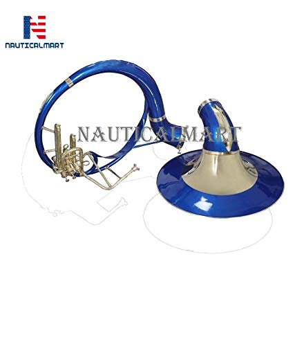 Sousaphone Bb Big Bell 25'' Blue Finish With Bag by NauticalMart (Image #5)