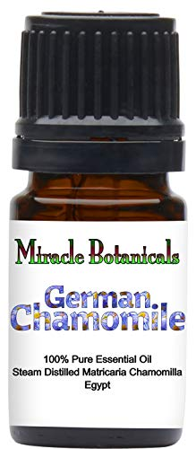 (Miracle Botanicals German (Blue) Chamomile Essential Oil - 100% Pure Matricaria Chamomilla - 5ml, 10ml, 30ml Sizes - Therapeutic Grade 5ml)