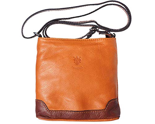 - LaGaksta Mini Very Soft Italian Leather Crossbody Small Cell Phone Wallet Purse Leather-Brown