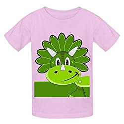Cartoon Triceratops Dinosaur Bml Youth Crew Neck P