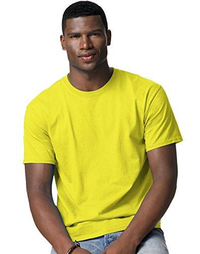 Hanes Mens Tagless T Shirt (Safety Green, ()
