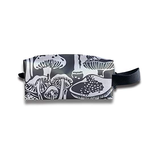 Small Toiletry Bag Simple Mushroom Pattern,Pencil Case,Travel Essentials Bag,Dopp Kit Bag For Men And Women With Handle]()