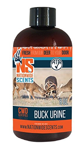 Deer Attractant Scent Lure, Purest, Fresh Frozen Natural Whitetail Deer Urine, Buck Scent, 8 (Deer Scent Liquid)