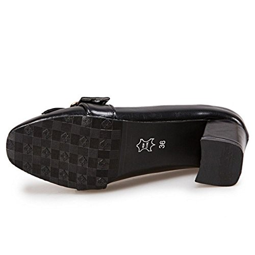 Alti Brogue Donna Melady Blocchi Scarpe black 3 Tacchi 65q6Id