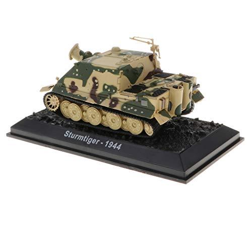 (B Blesiya 1:72 Metal Army Sturmtiger-1944 Tank Model Showcase Display)