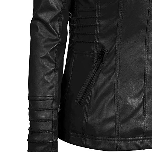 Casual Outerwear Colores Chaqueta Larga Hipster Otoño Mujer De Moda Outwear Fashion Encapuchado Jacket Sólidos Manga Biker Suave Cazadoras Moto Schwarz Coat Tubo Primavera HRq0wXaP0