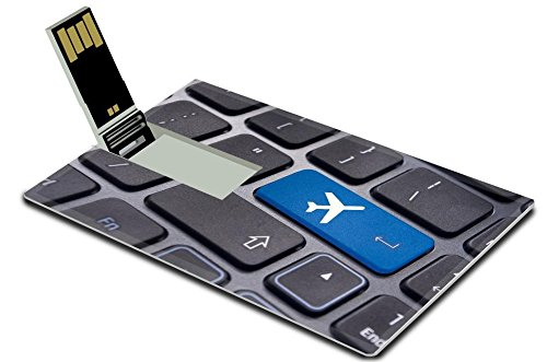 MSD 32GB USB Flash Drive 2.0 Memory Stick Credit Card Size Image ID 20325071 a plane sign on keyboard to illustrate online booking or purchase of plane ticket or business travel concepts (Air Tickets Purchase compare prices)