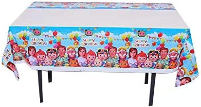 """cocomelon Birthday Party Supplies 70.8 x 42.5/"""" 2pcs Cocomelon Party Tablecloth Disposable Plastic Table Cover"""