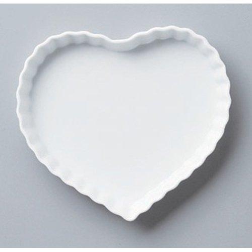 Plate utw568-15-374 [8.1 x 7.5 x 1.2 inch] Japanece ceramic Heart quiche L tableware