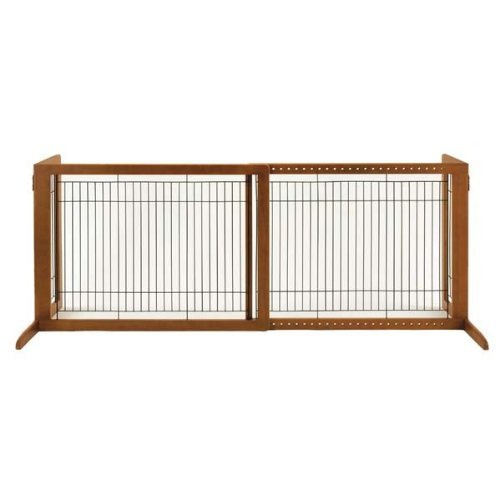 Richell Wood Freestanding Pet Gate, High-Large, Autumn Matte Finish - Richell Gates