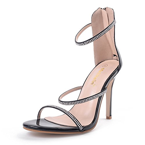 Palabra Agua Heel Simple Sandalias 39 Alto Shoes Chica ZHZNVX Perforación La el la Negro con g1W5qC