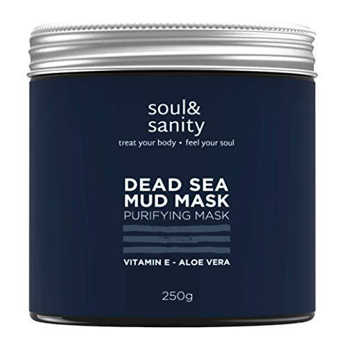Totes Meer Maske mit Aloe Vera und Vitamin E | VEGAN | Blackhead Remover Face Mask | Anti Pickel | Dead Sea Purifying Mud Mask | Naturkosmetik und tierversuchsfrei