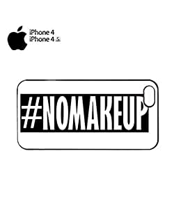 No Make Up Hashtag Mobile Cell Phone Case Cover iPhone 4&4s White