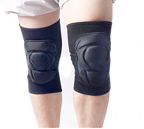 Knee Pads, Anzome 1 Pair Thick Sponge Pain Relief Impact Resistance KneePad for Outdoor Sport, Wrestling, Snowboarding, Outdoor Climbing Sportsand (Hellstorm Tactical Knee Pads)