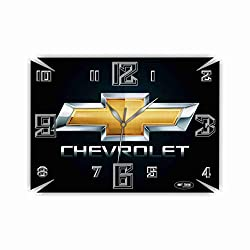 Chevrolet 17 x 11 Exclusive Wall Clock- Handmade Unique Clock for Home and Office, Original Present for Every Occasion.