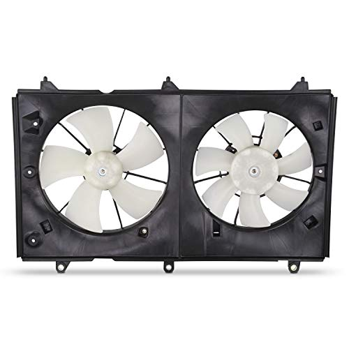 Radiator Dual Fan Fits 2003-2007 Honda Accord 2.4L L4 Sedan Coupe Model Cooling Condenser w/Motor Assembly 04 05 ()