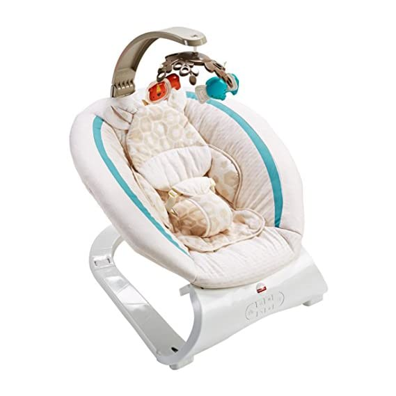 Fisher-Price Deluxe Bouncer Soothing Savanna (Multicolour, CLH37)