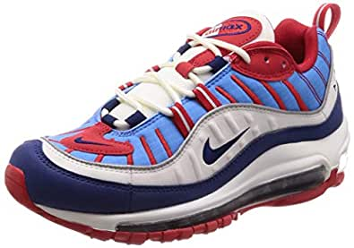 Nike Womens Air Max 98 Running Trainers AH6799 Sneakers Shoes (UK 4 US 6.5 EU 37.5, White Midnight Navy 112) 112