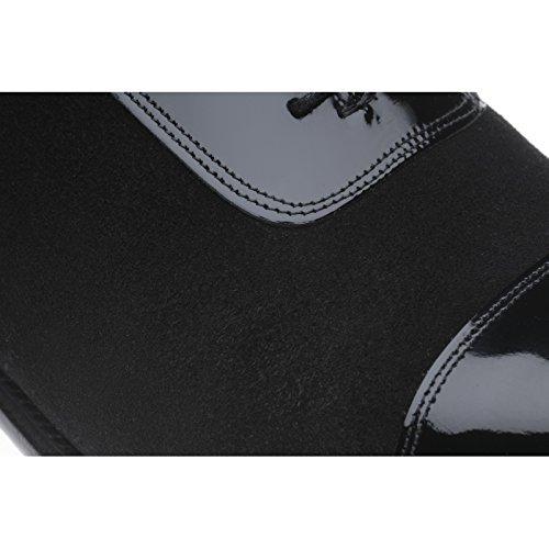 Aringa Jive in vernice nera e scamosciate, colore: nero