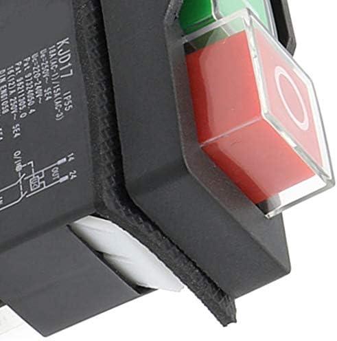 Binchil AC250V 16a Interruptor de Bot/óN Electromagn/éTico a Prueba de Agua 5 Pines KJD17 220-240V Herramienta de Potencia de Arranque Magn/éTico de Bobina Interruptores de Seguridad