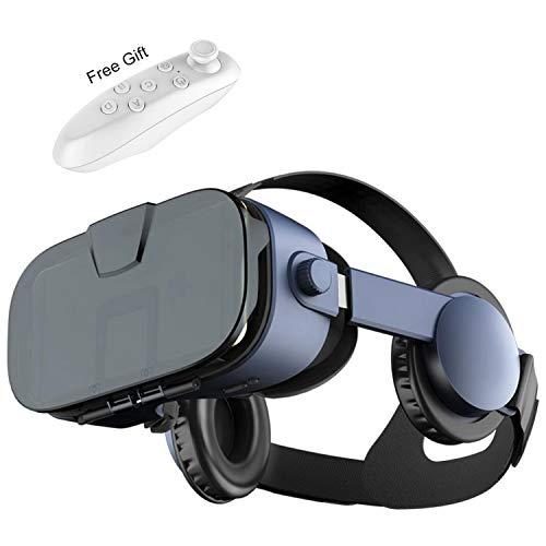 Virtual Reality Headset, 2019 VR Glasses w/ 3D Headphones &Remote(Gift), 3D IMAX Movie/Game Viewer for iPhone 11 Pro XS…