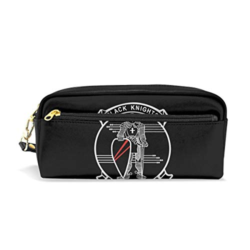 Pencil Case US Navy VF-154 Black Knights Squadron Gift Students Canvas Pen Bag Pouch Stationary Case Makeup Cosmetic Bag ()