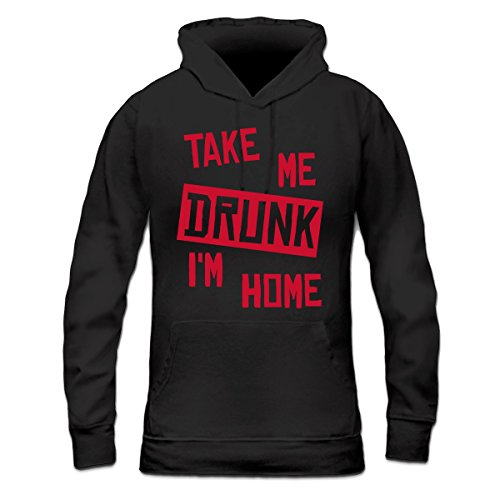Sudadera con capucha de mujer Take Me Drunk I'm Home by Shirtcity Negro