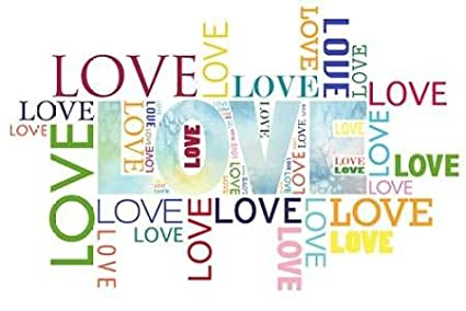 Love Type - Fine Art Print on Fine Art Paper - PRINT ONLY