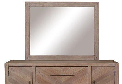 Auburn Rectangular Mirror White Washed -