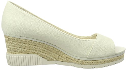 Jeans Brit Pumps Calvin White Klein Lerret Kvinners Off Peeptoe 5CxnOAqFx