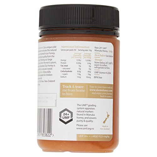 Steens Manuka Honey UMF 24 (MGO 1122) 17.6 Ounce jar | Pure Raw Unpasteurized Honey From New Zealand NZ | Traceability Code on Each Label by Steens (Image #7)