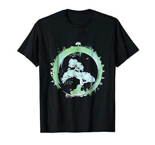 Bonsai Tree Enso Circle Art T-Shirt Japanese Tee Gift
