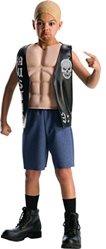 Boys Wwe Stone Cold Deluxe Kids Child Fancy Dress Party Halloween Costume, S (4-6)