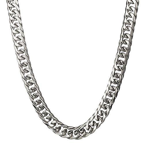 Mens Stainless Steel Silver Tone 26 Inches 16MM Wide Large Heavy Curb Link Chain Necklace ()