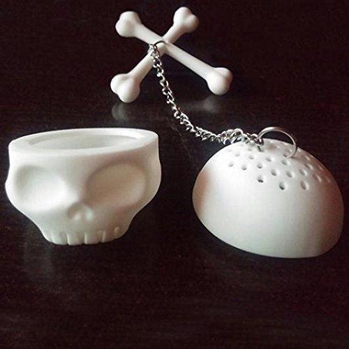 KaariFirefly Creative Tea Bones Skull Infuser Loose Leaf Leaves Lazybone Silicone Strainer