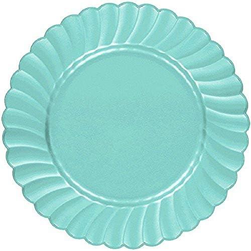 Amscan 高耐久性プレート パーティー用品 子供用 ブルー