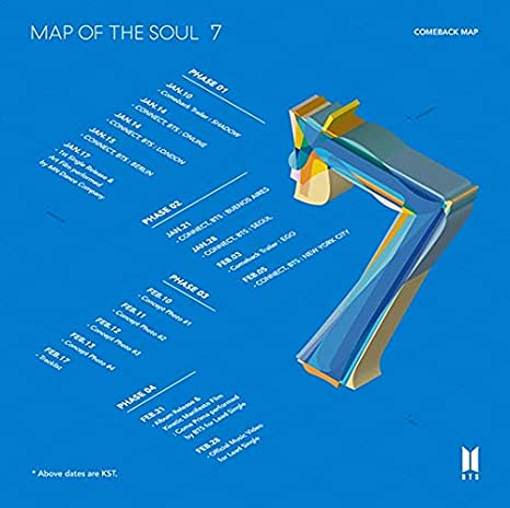 7 Bighit Ent BTS Bangtan Boys Map of the Soul Version 02 Incl. Pre-order Benefits : Folded Poster, Seller Gift : One Random Acrylic BTS Photo Sticker Sheet