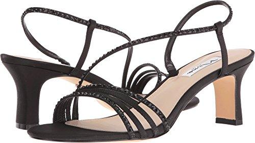 Nina Women's Gerri-Ls Dress Sandal, Black Lus Sat/Black Stone, 8.5 M US