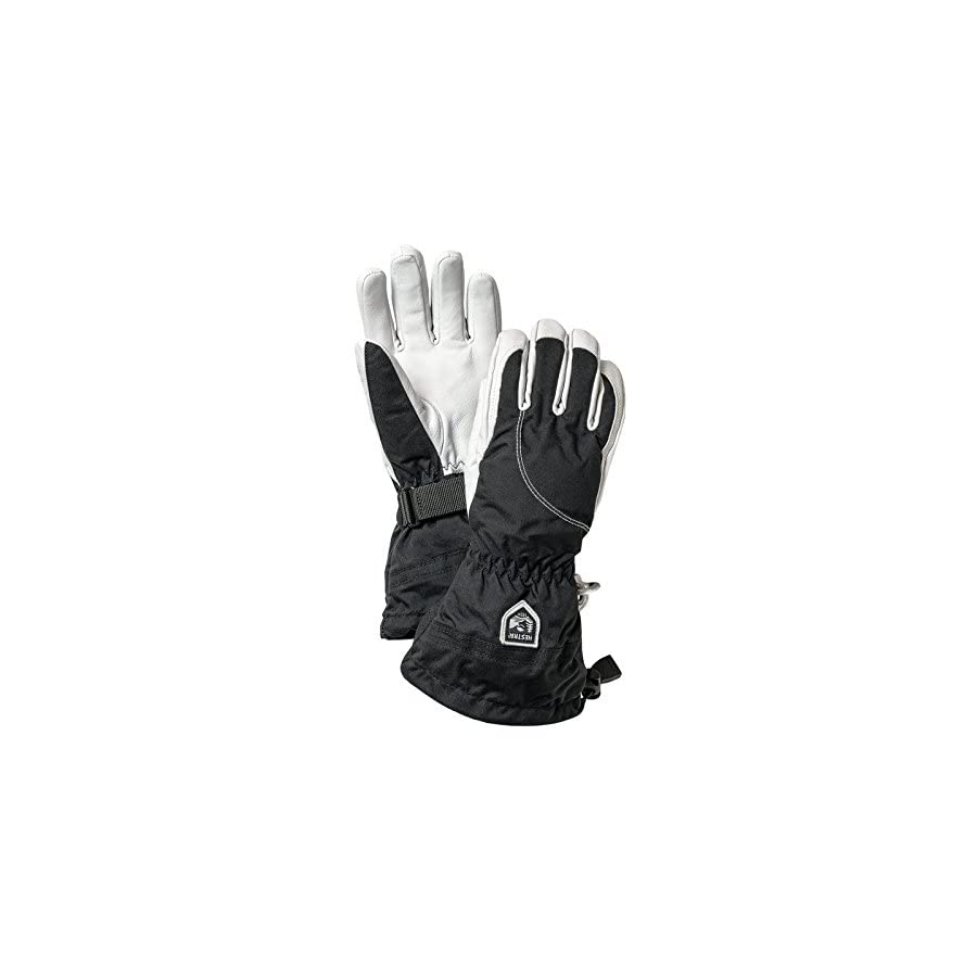 Hestra Womens Extra Warm Ski Gloves: Heli Leather Winter Cold Weather Powder Glove