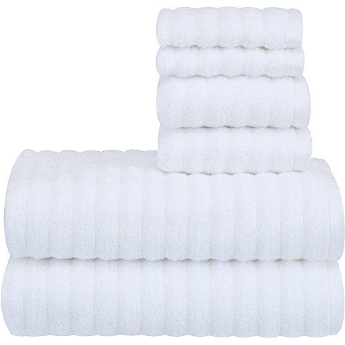 (Mainstay Performance Texture 6-Piece Towel Set - Arctic White)