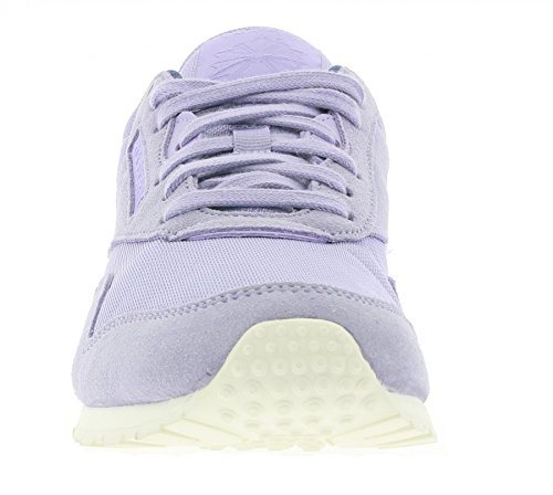 Reebok Cl Nylon Slim Core, Zapatillas de Running para Mujer Morado / Azul / Blanco (Moon Violet / Midnight Blue / Chalk)