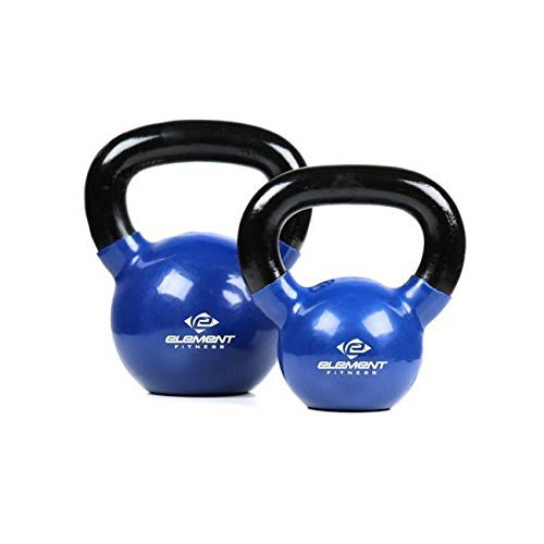 Element Fitness Vinyl Kettle bell - 75 lbs by Unified Fitness Group