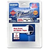 "Brother International, Red on White 1"" (Catalog Category: Printers- Inkjet/Dot Matrix / Label Printer Access.)"