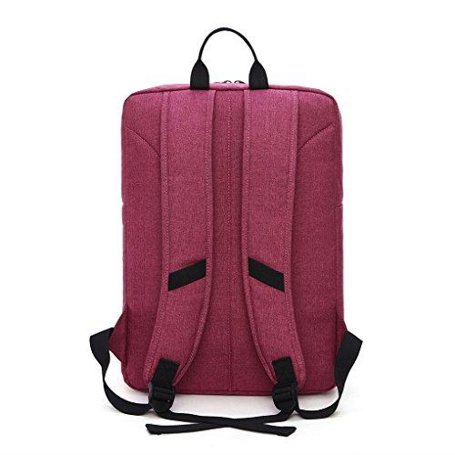 Mochila Negocio Backpack Escolar de Moda para Portátil de 15.6 pulgadas Trabajo Diario Para Hombre Mujer Estudiante 14L Negro rojo