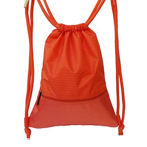 FZHLY Manojos De Lazo De Los Hombres Y De Las Mujeres Bolsa De Viaje Al Aire Libre Bolso Impermeable,RoseRed-large Orange-Large