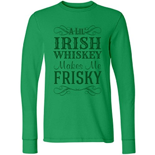 Sexy St Patricks Day Outfit (Customized Girl Irish Whiskey on St Patricks Day: Unisex Next Level Thermal Long Sleeve Tee)