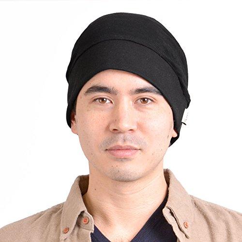Doble Capa Diseño Forma Hombre Tejido Moda Flojo Japonés Holgado Casaulbox negro Gorrita Sombrero nxT80Cqag