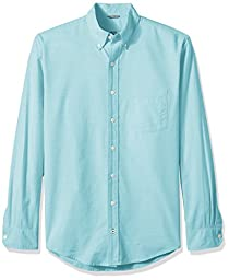 IZOD Men\'s Big and Tall Oxford Solid Long Sleeve Shirt, Blue Radiance, 2X-Large Big