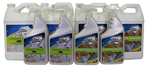 (Granite Plus! Cleaner & Sealer for Granite, Marble, Travertine, Limestone, Wood & Laminate Floor Cleaner: For Hardwood, Real, Natural & Engineered Flooring -Biodegradable (2, 2-Quarts+2-Gallons))