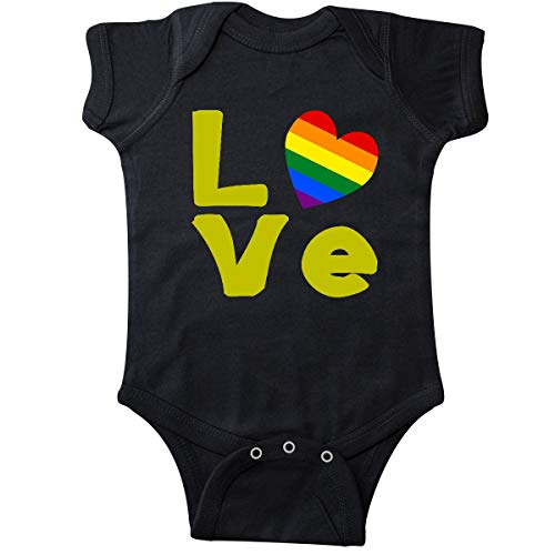 inktastic - Gay Love Gold Infant Creeper 6 Months Black f83e